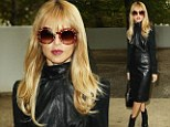 Rachel Zoe wears leather to Paris Fashion Week