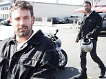Ben Affleck steps out and takes his BMW RR1000 street bike