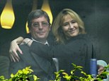 Difficult relationship: J. K. Rowling with her father Peter in 2000