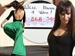 Well that proves your point! DWTS pro Karina Smirnoff dances in car park after posting note saying she will jive for votes