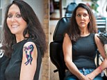 Liz Jones was branded with a 4-inch high prancing horse