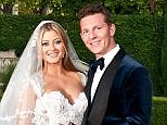 Man and wife: Holly Valance tied the knot with her billionaire beau Nick Candy in Beverly Hills on Saturday