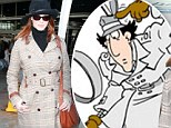 Going undercover Christina? Hendricks is a far cry from her Mad Men alter-ego as she steps out in Inspector Gadget style double breasted coat and hat
