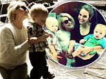 Watch out Ryan! Julianne Hough looks broody as she bonds with her little nephew