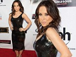 All grown up! Party Of Five star Lacey Chabert celebrates her 30th birthday and shows off her curves in a sequined black dress for bash