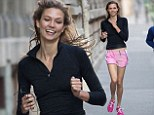 Shouldn't Karlie Kloss be putting ON weight? Supermodel enjoys a gruelling workout as ribcage airbrush controversy rages on