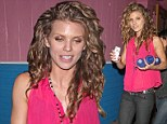 AnnaLynne McCord seen leaving the Pink Taco restaurant in Hollywood after spending the evening partying with friends and co-star Shenae Grimes