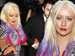 Worse for wear Christina Aguilera escorted to her car by boyfriend Matthew Rutler after celebrating the release of her new video