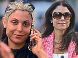 So that's how she keeps her hair looking great! Make-up free Bethenny Frankel has her roots touched up