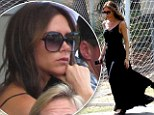 Victoria Beckham watched her sons play football in Los Angeles