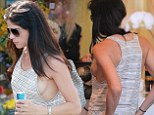 Showing her ex what he's missing! Newly single Selma Blair models some serious side boob as she hits the shops