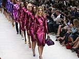The Burberry trench coat has evolved through the years and at London Fashion Week this year, a metallic finale wowed crowds