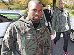 Barking up the wrong tree! Kanye West scores a mis-hit at Paris Fashion Week as he steps out sporting a bizarre top with twigs and branches design