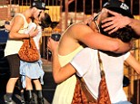 Getting flirty:Val Chmerkovskiy and partner Kelly Monaco put on a different kind of show after DWTS rehearsals