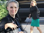Blonde ambition: Natalie Portman dyed her naturally brown locks blonde for role in Terence Malick's new film