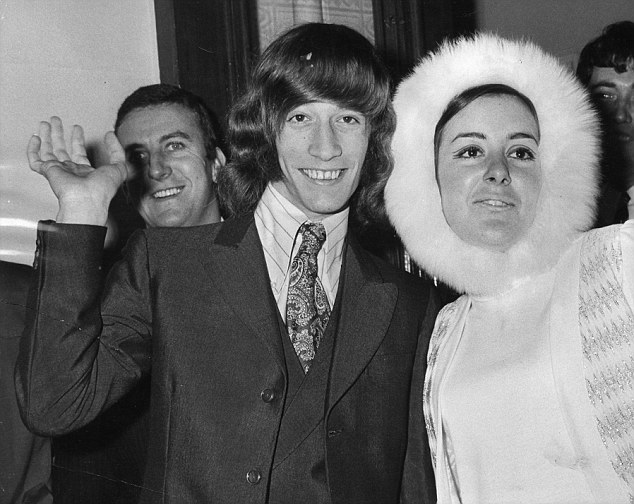 Happy: The couple on their wedding day. When Robin became successful, they lived on opposite sides of the Atlantic