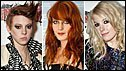 Left-right: La Roux, Florence and the Machine, Little Boots