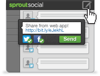 Send, Schedule or Queue <br /> Messages in Sprout Social