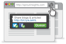 Share content as you <br /> browse the web