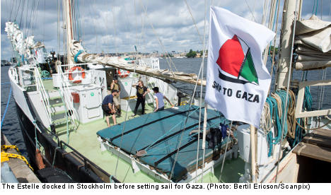 Ship to Gaza Sweden vessel sets sail again