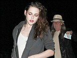 Who needs R-Patz? Kristen Stewart spent the evening with her father John on Sunday night as the pair went to the Florence And The Machine concert in Hollywood