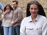 Actress Julia Roberts and co-star Ewan McGregor begin filming their new movie August: Osage County with a very intense scene in Bartlesville, Oklahoma