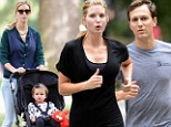 Make-up free Ivanka Trump looks flawless as she hits the pavement with her husband and daughter