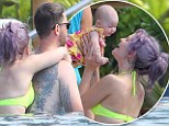 Baby love! Kelly Osbourne dotes over tiny niece Pearl and cuddles up to younger brother Jack ahead of his rumoured wedding