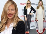 Casual Sienna Miller stays in the shade for day two at Hamptons Film Festival after channelling Gwyneth Paltrow Oscars gown