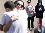 Hug it out: Bristol Palin gets a bear hug from DWTS partner Mark Ballas
