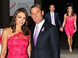 Elizabeth Hurley illuminates the British Museum pink for Breast Cancer Awareness campaign...but steals the spotlight with stunning lacy dress