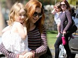 Alyson Hannigan and mini-me daughter Satyana share some giggles and quality time together
