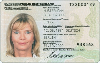 German RFID  identity card