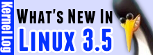 What's new in Linux 3.5