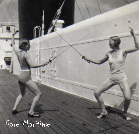 'Fencing' on deck