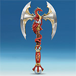 Dragon Bane Collectible Red Dragon Collectible Axe Wall Decor - Unique Collectible Red Dragon Wall Decor Features Dramatic Sculptural Details and Simulated Gems! Limited-edition Exclusive!