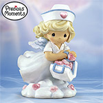Precious Moments® Sending Love From Above Collectible Nurse Figurine - Exclusive Collectible Precious Moments® Nurse Figurine, a True Hearts of Love and Faith! A Tribute to Nurses Everywhere!