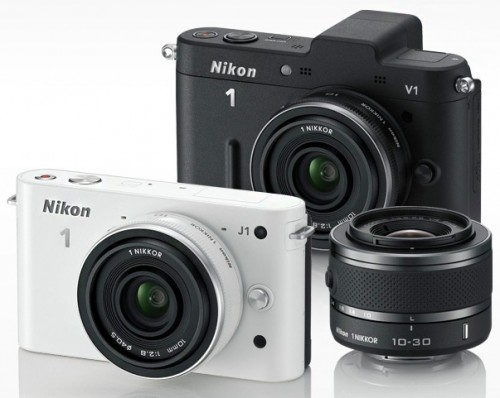 NIkon 1 line up Nikon launches two mirrorless cameras in India [Nikon V1 and J1]