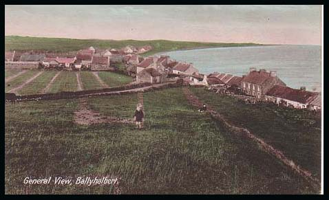 Ballhalbert village overlooking the Irish Sea