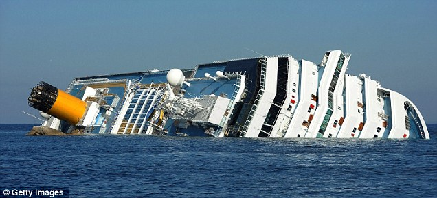 Shocking: Even though 32 people died in the Costa Concordia tragedy, the captain is seeking a huge payout to tell his story