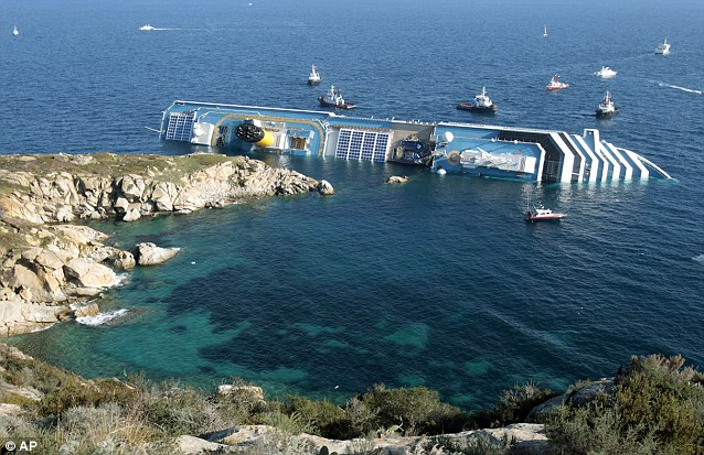 Dangerous: The Costa Concordia ran into trouble after sailing too close to the tiny Tuscan island of Giglio, Italy