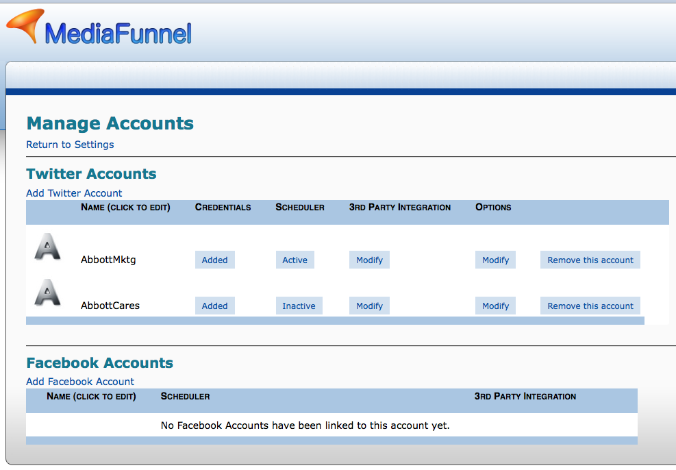 Multiple Twitter Accounts Management
