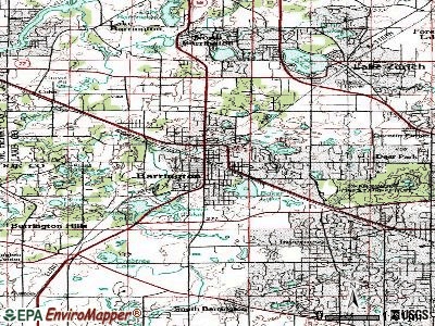 Barrington topographic map