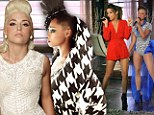 X Factor hopeful CeCe Frey gets blonde bombshell makeover while Paige Thomas hits new heights... with a mohican