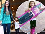 What a doll: Kyle Richards treats her daughter Portia, four, to a Beverly Hills shopping spree