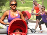 Mel B works out with her personal trainer and daughter Madison in Sydney, Australia