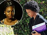 FIRST LOOK: Zoe Saldana transforms into Nina Simone for new movie... with the help of facial prosthetics, fake teeth and an afro-style wig