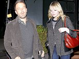 Dinner for two: Ben Affleck and Emma Stone dined out together at the Tavern in Brentwood on Tuesday