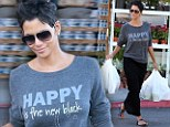 Halle Berry carries out groceries after shopping at Bristol Farms in Beverly Hills