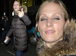 Royal flushed: Zara Phillips looks worse for wear as she leaves nightclub